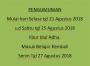 PENGUMUMAN LIBUR IDHUL ADHA 2018